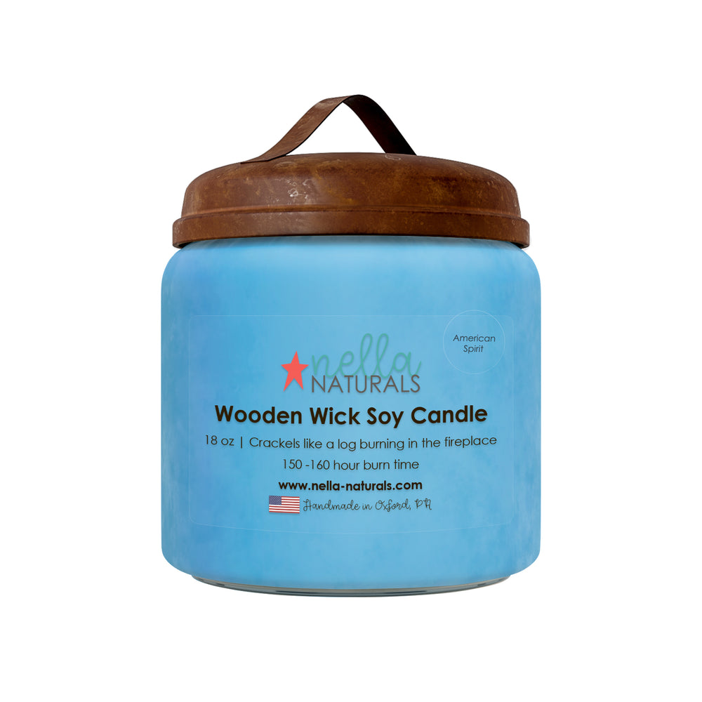 18oz American Spirit Wooden Wick Candle