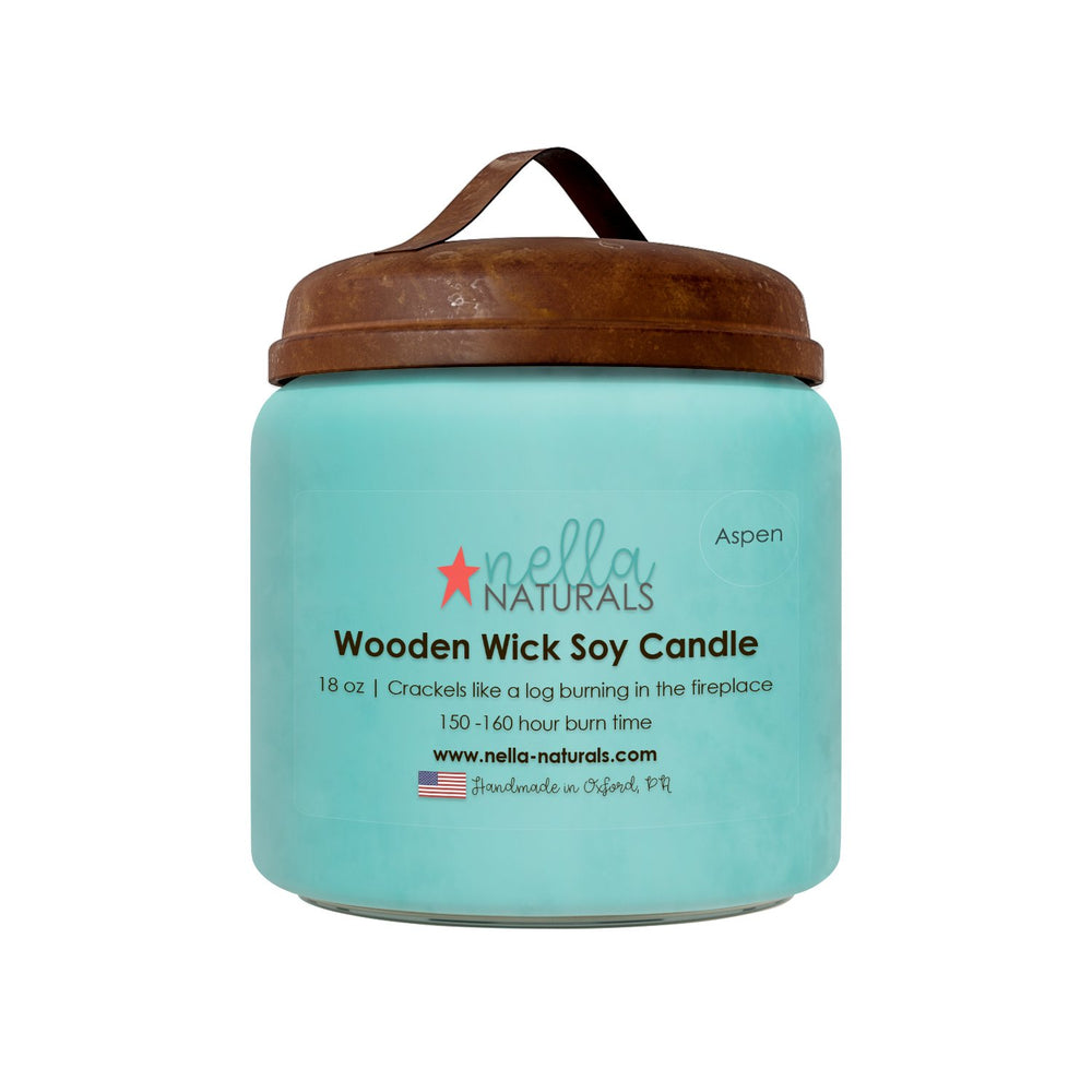 18oz Aspen Woods Wooden Wick Candle