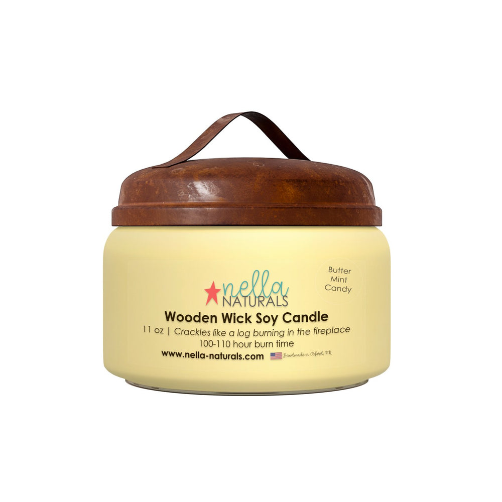 Butter Mint Wooden Wick Candle