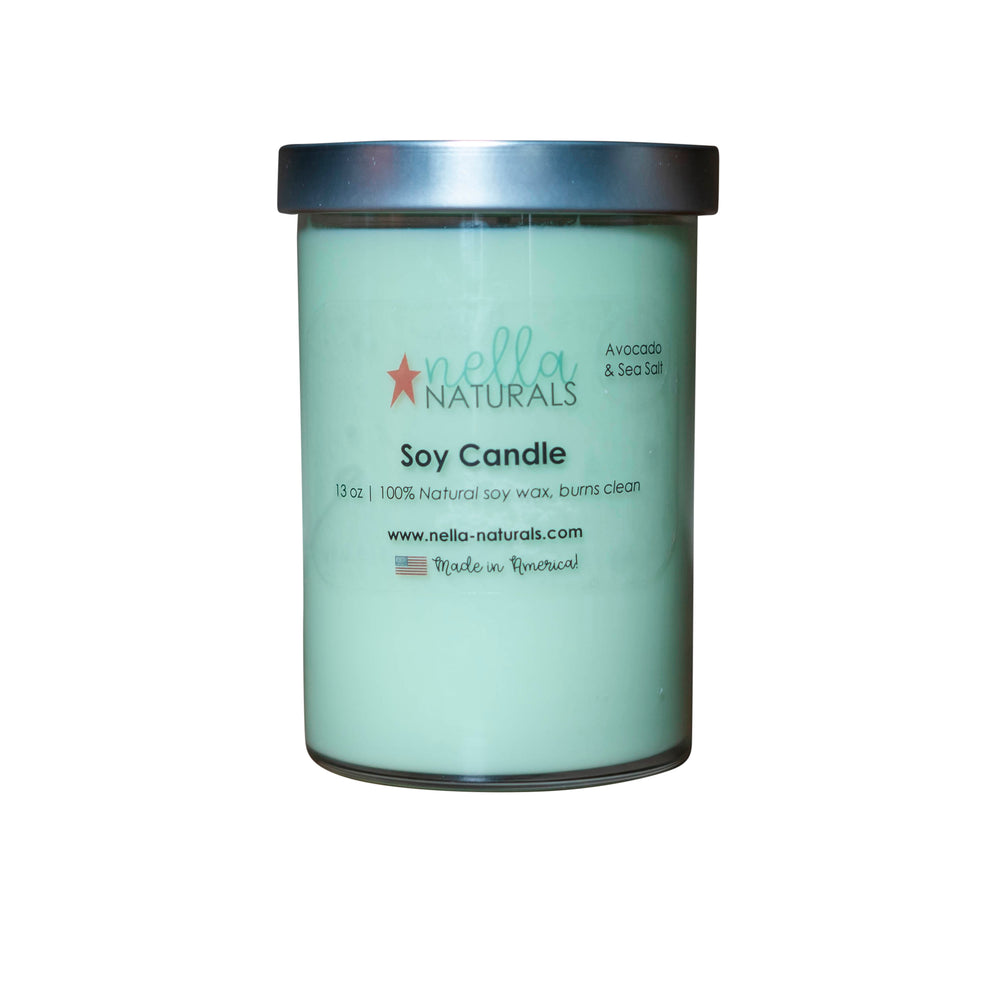 13oz Avocado & Sea Salt Soy Wax Candle
