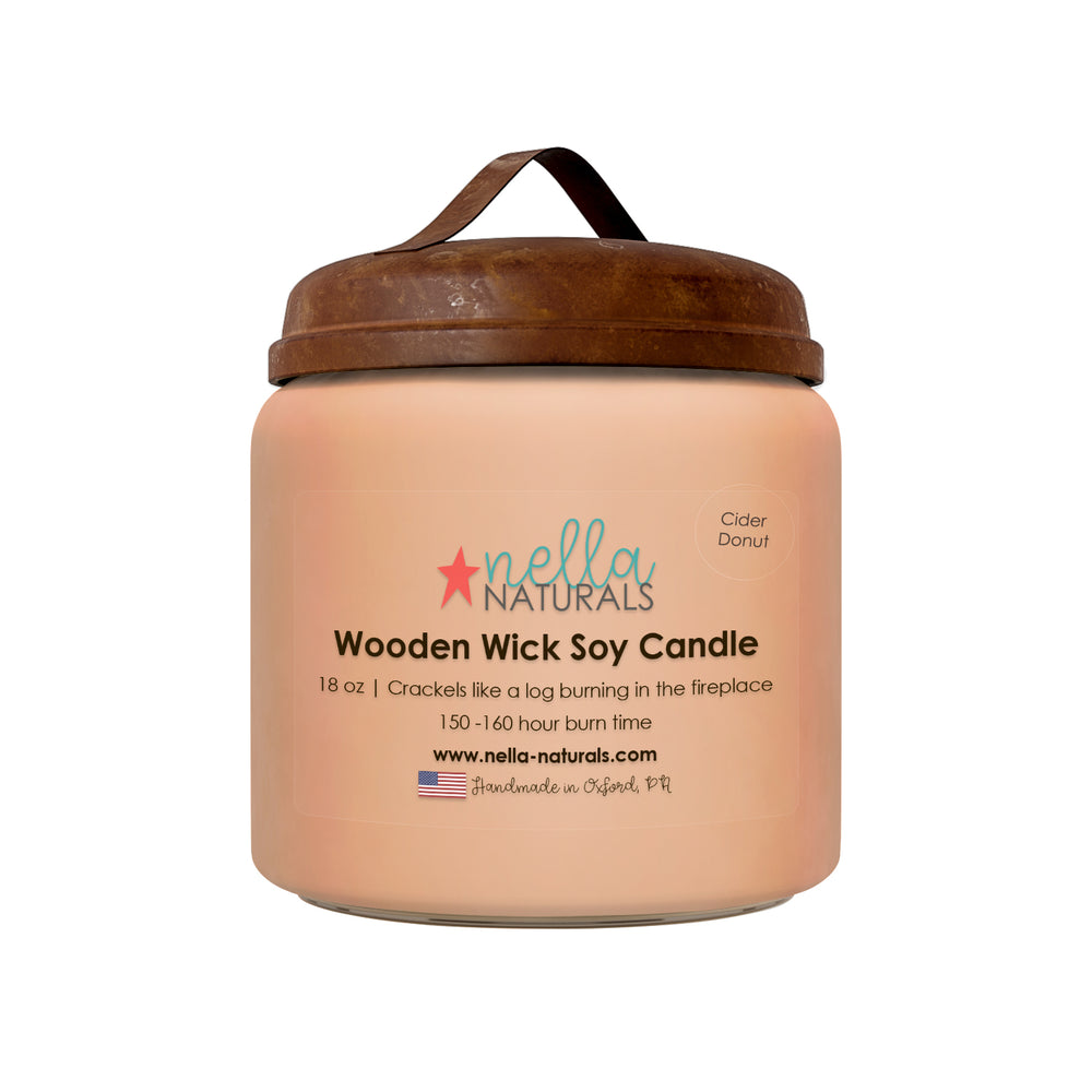 18oz Cider Donut Wooden Wick Candle
