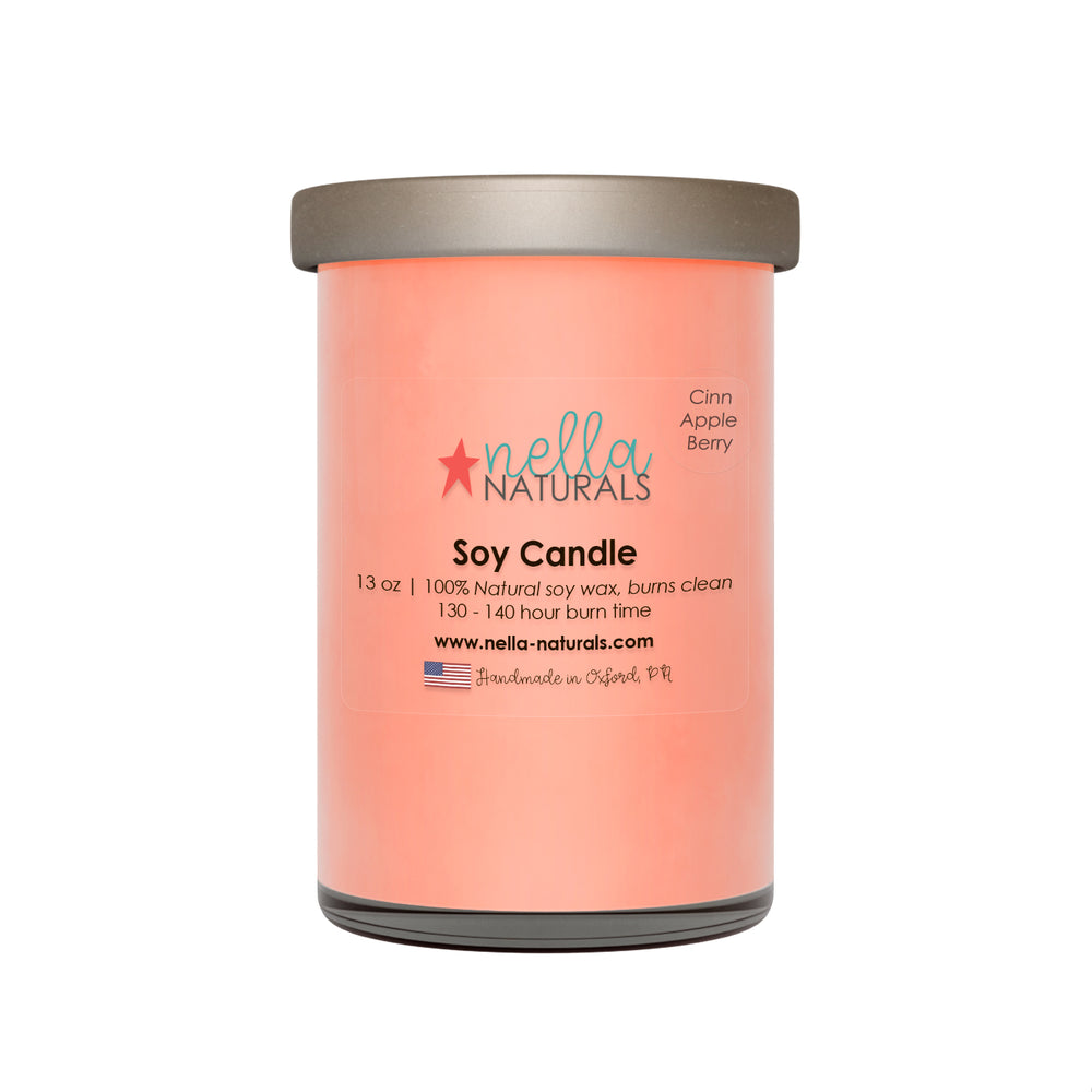 13oz Cinnamon Apple Berry Soy Wax Candle