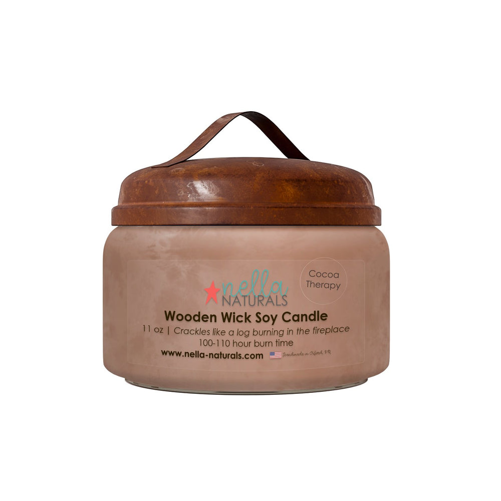 Cocoa Therapy Wooden Wick Candle