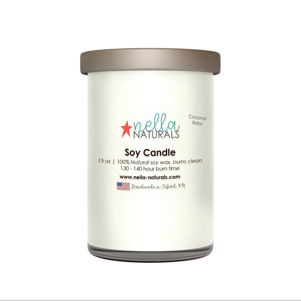 13oz Coconut Baby Soy Wax Candle