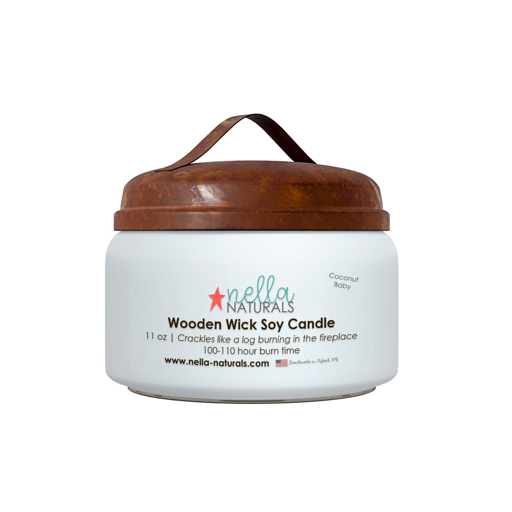 Coconut Baby Wooden Wick Candle
