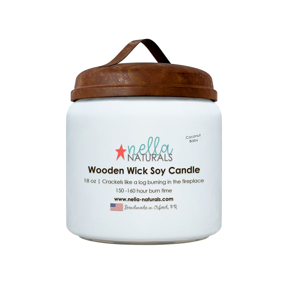 18oz Coconut Baby Wooden Wick Candle