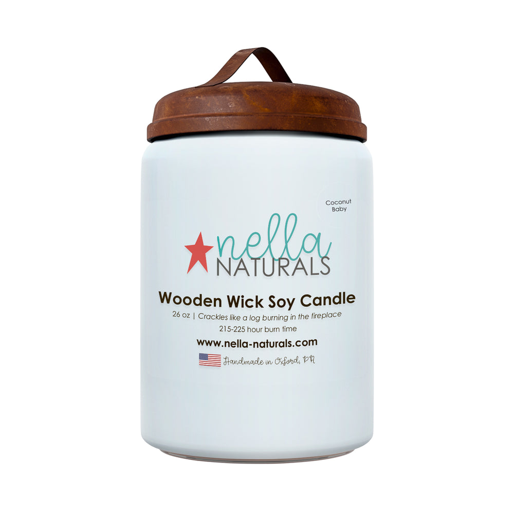 26oz Coconut Baby Wooden Wick Candle