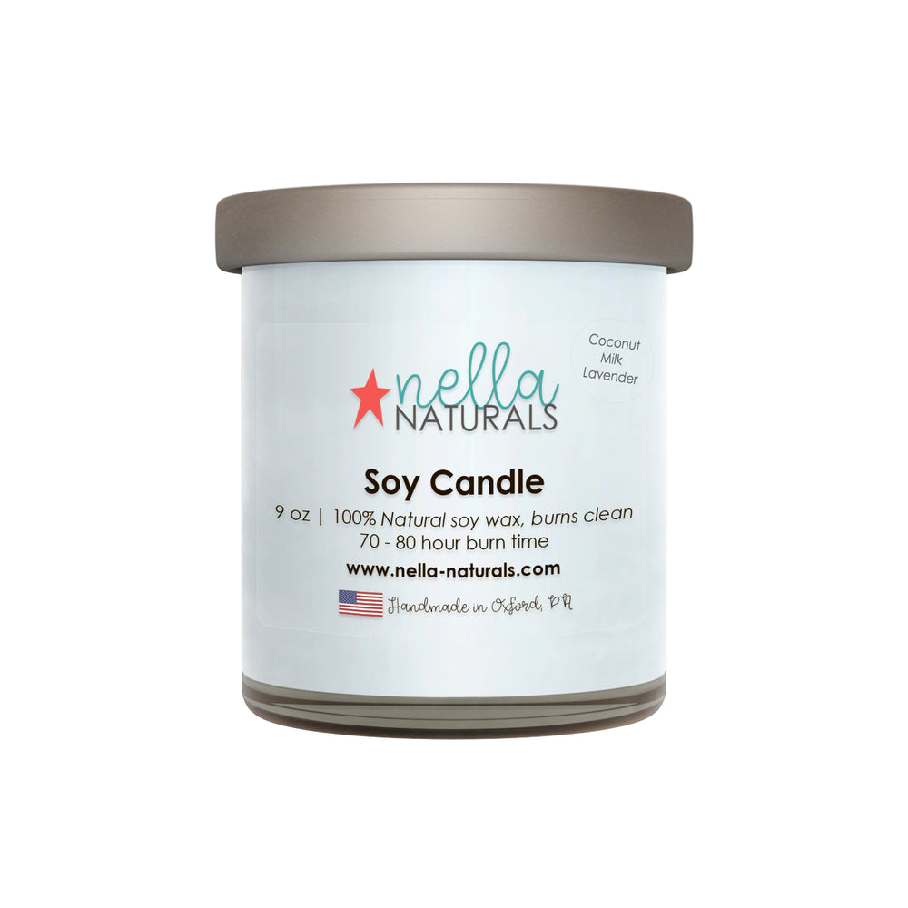 9oz Coconut Milk Lavender Soy Wax Candle