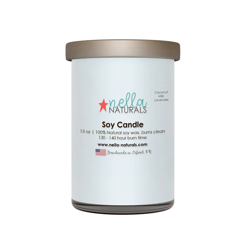 13oz Coconut Milk Lavender Soy Wax Candle