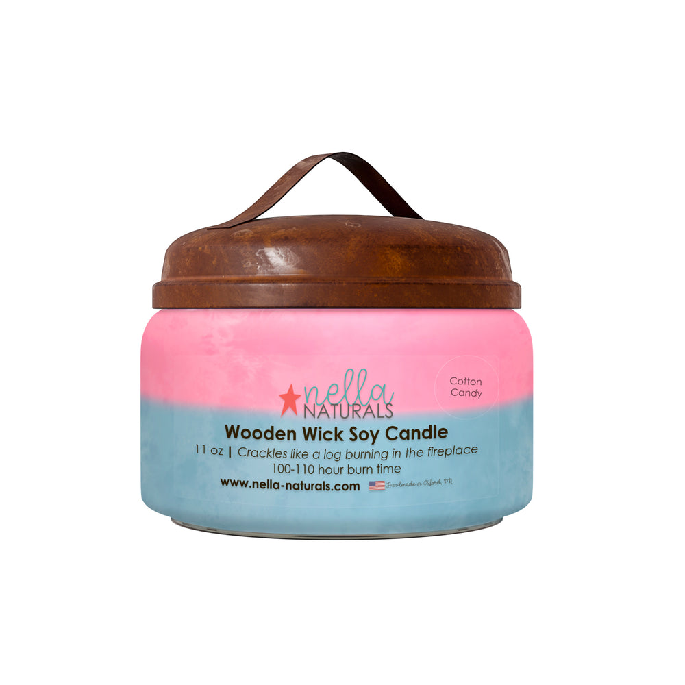 Cotton Candy Wooden Wick Candle