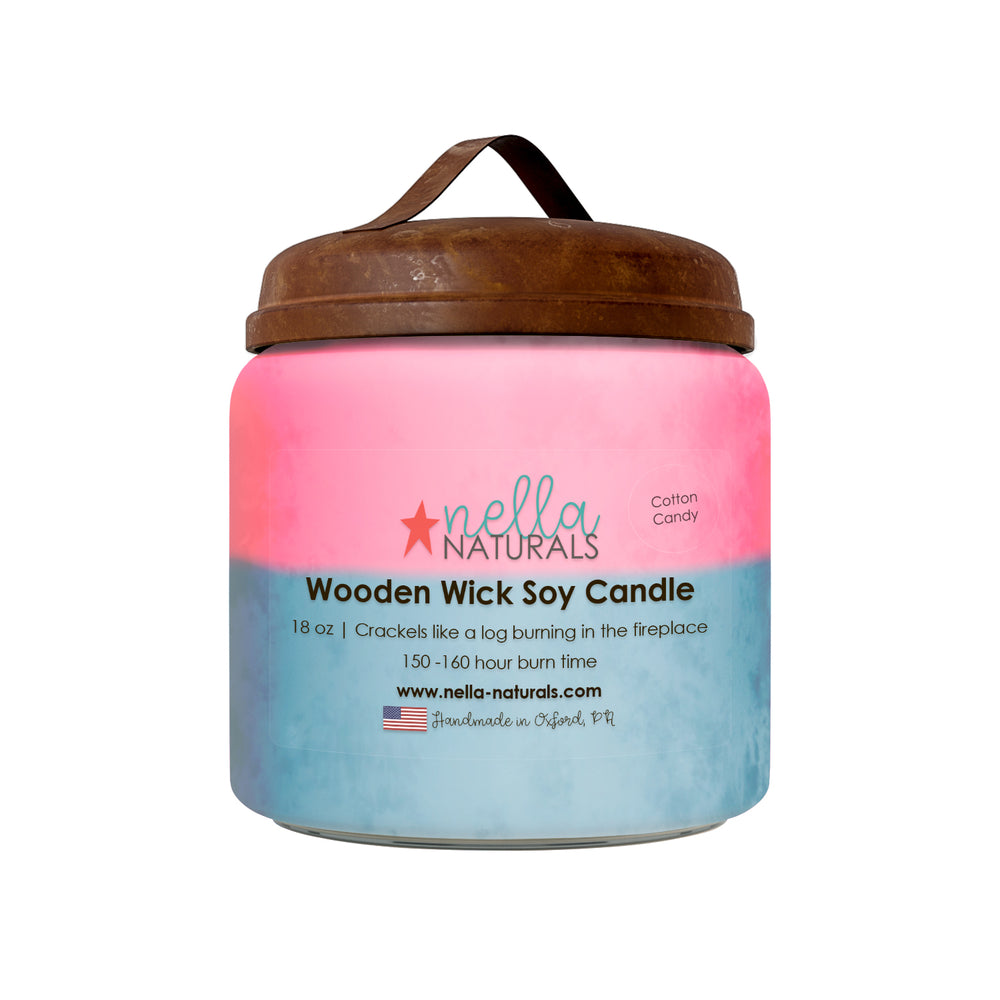 18oz Cotton Candy Wooden Wick Candle