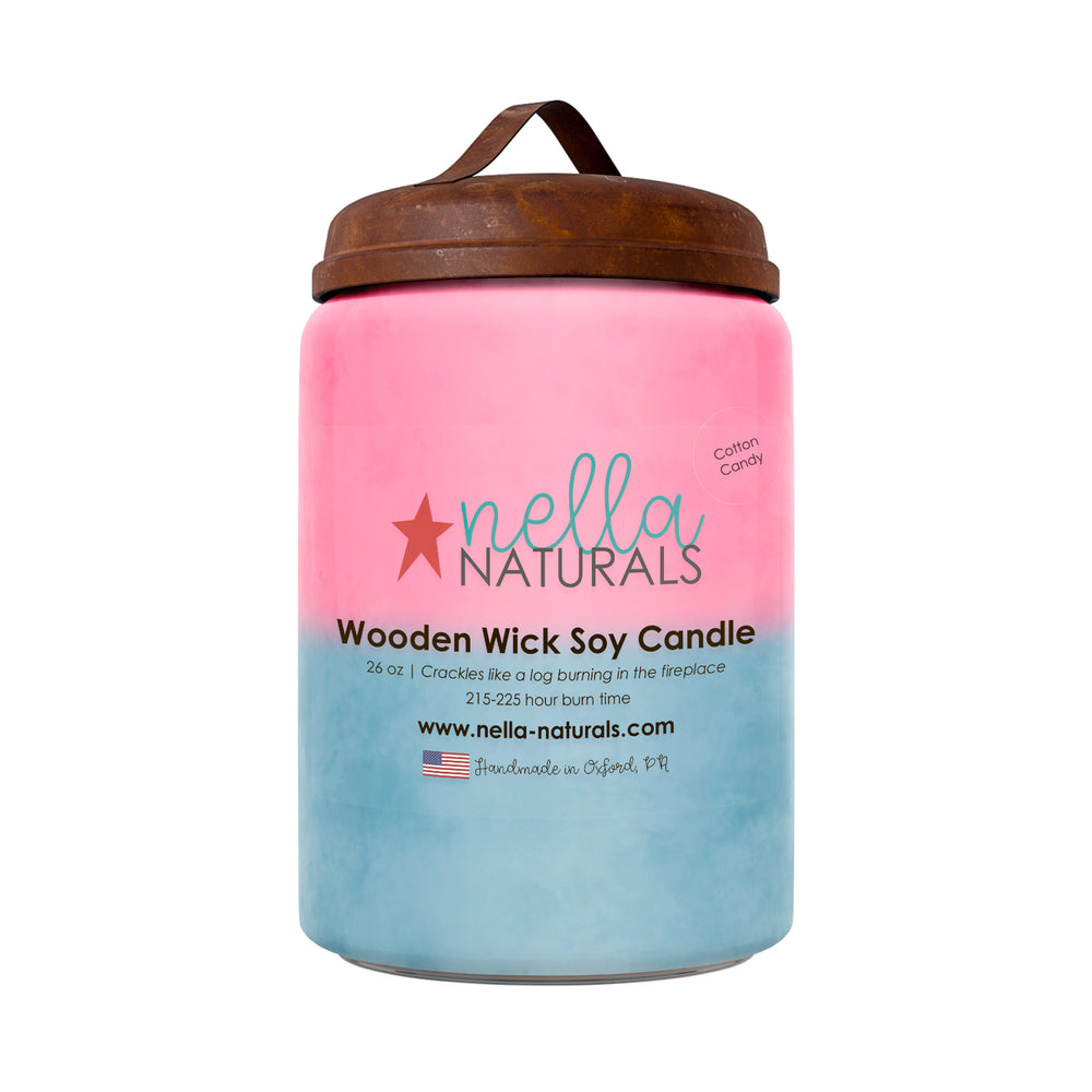 26oz Cotton Candy Wooden Wick Candle