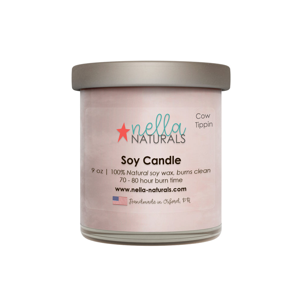 9oz Cow Tippin Soy Wax Candle