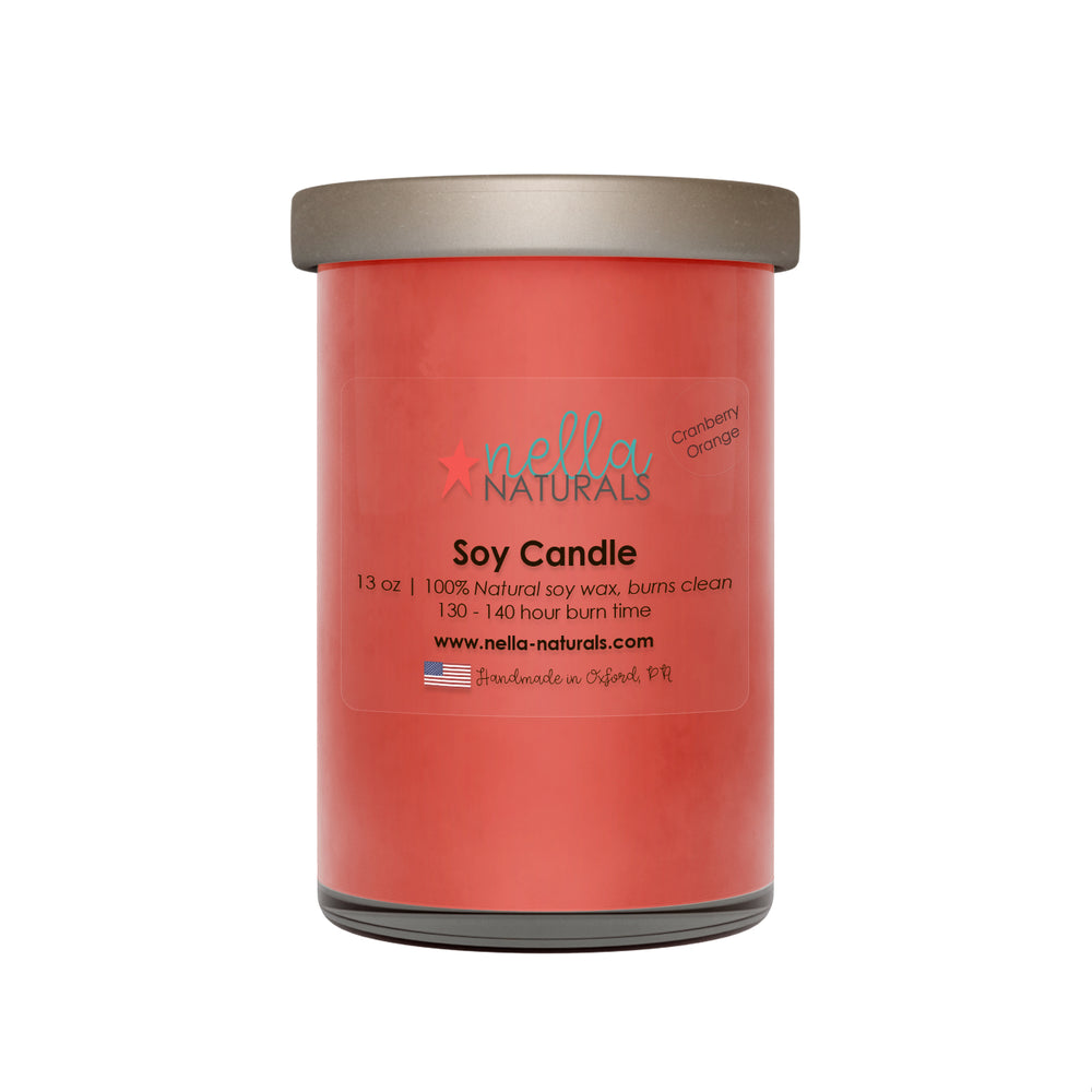 13oz Cranberry Orange Soy Wax Candle
