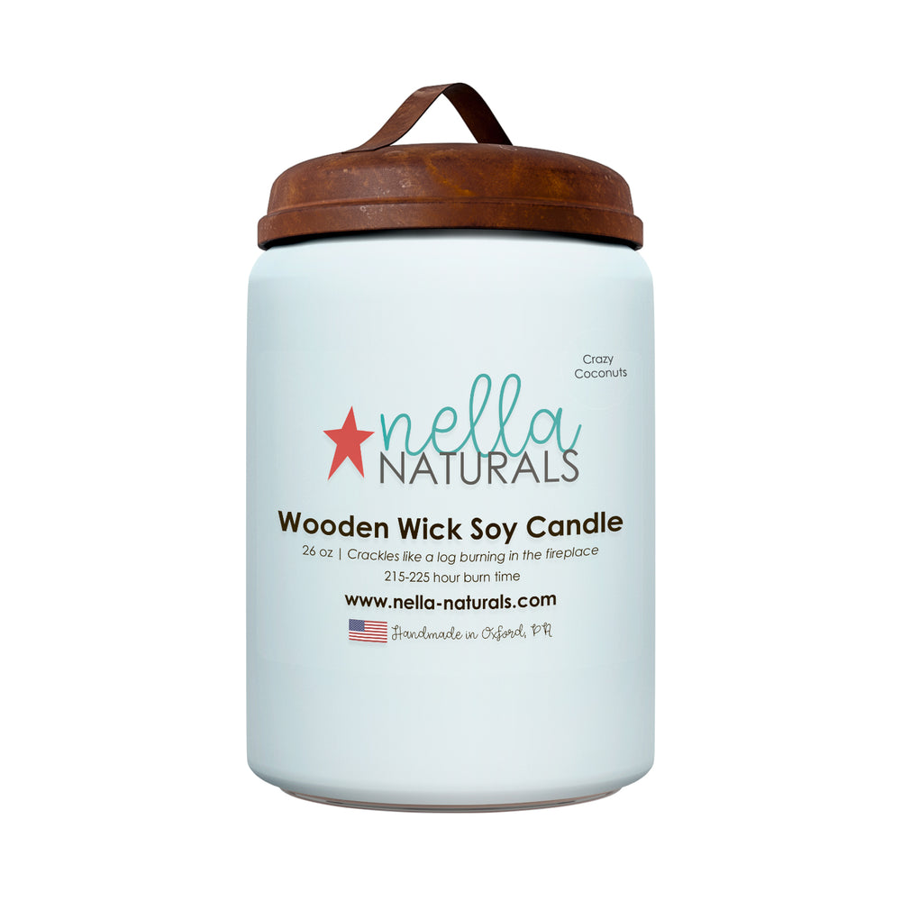 26oz Crazy Coconuts Wooden Wick Candle