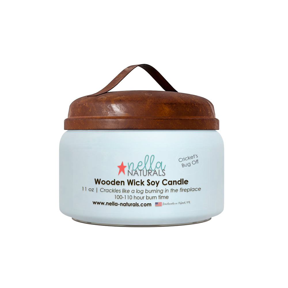 Cricket's Bug Off Wooden Wick Candle
