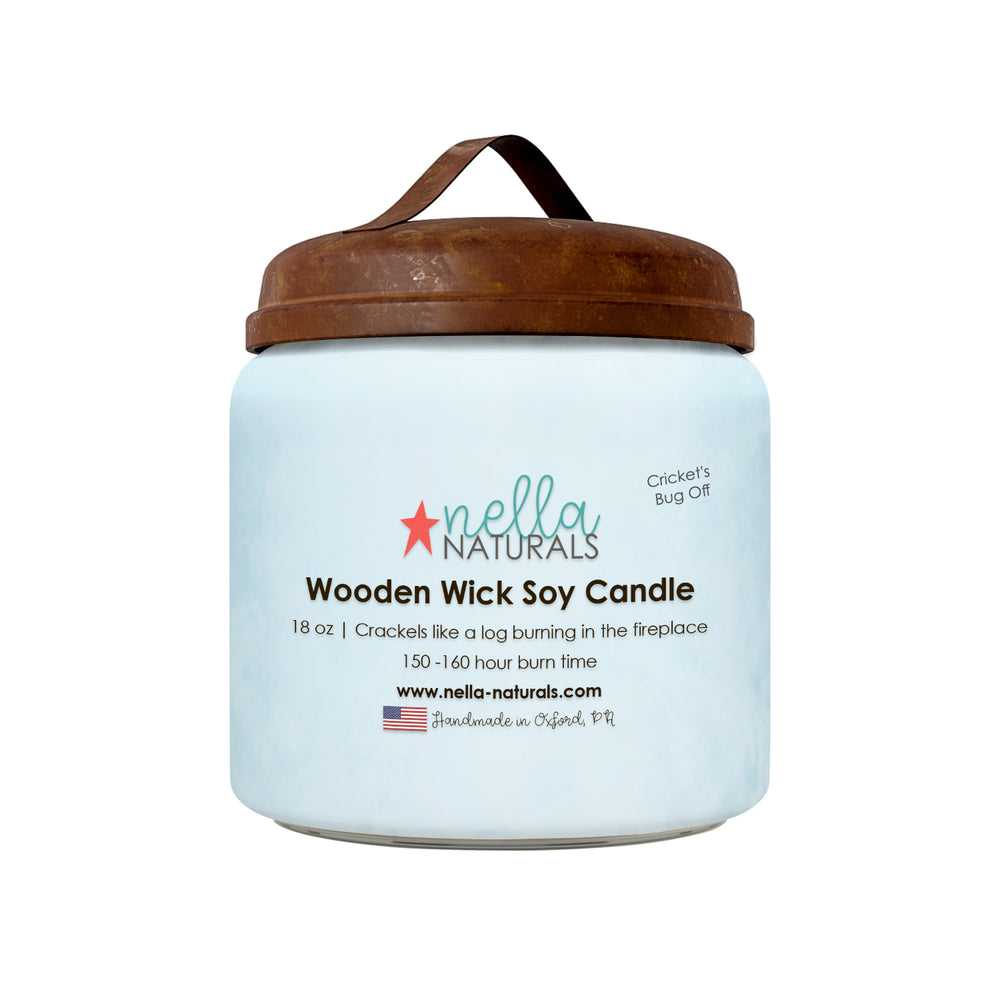 18oz Cricket's Bug Off Wooden Wick Candle