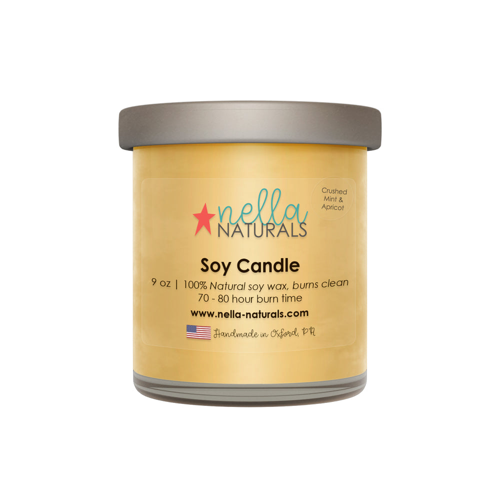 Crushed Mint & Apricot Soy Wax Candle