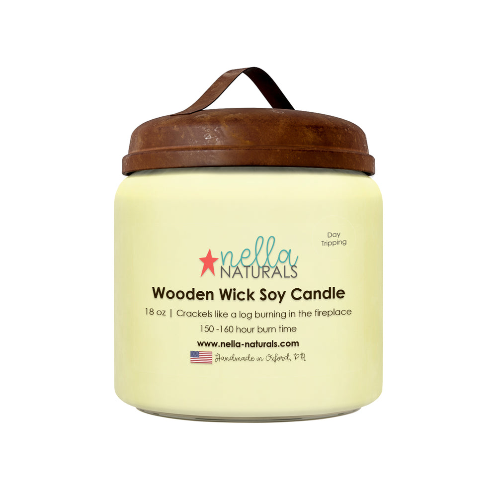 18oz Day Tripping Wooden Wick Candle
