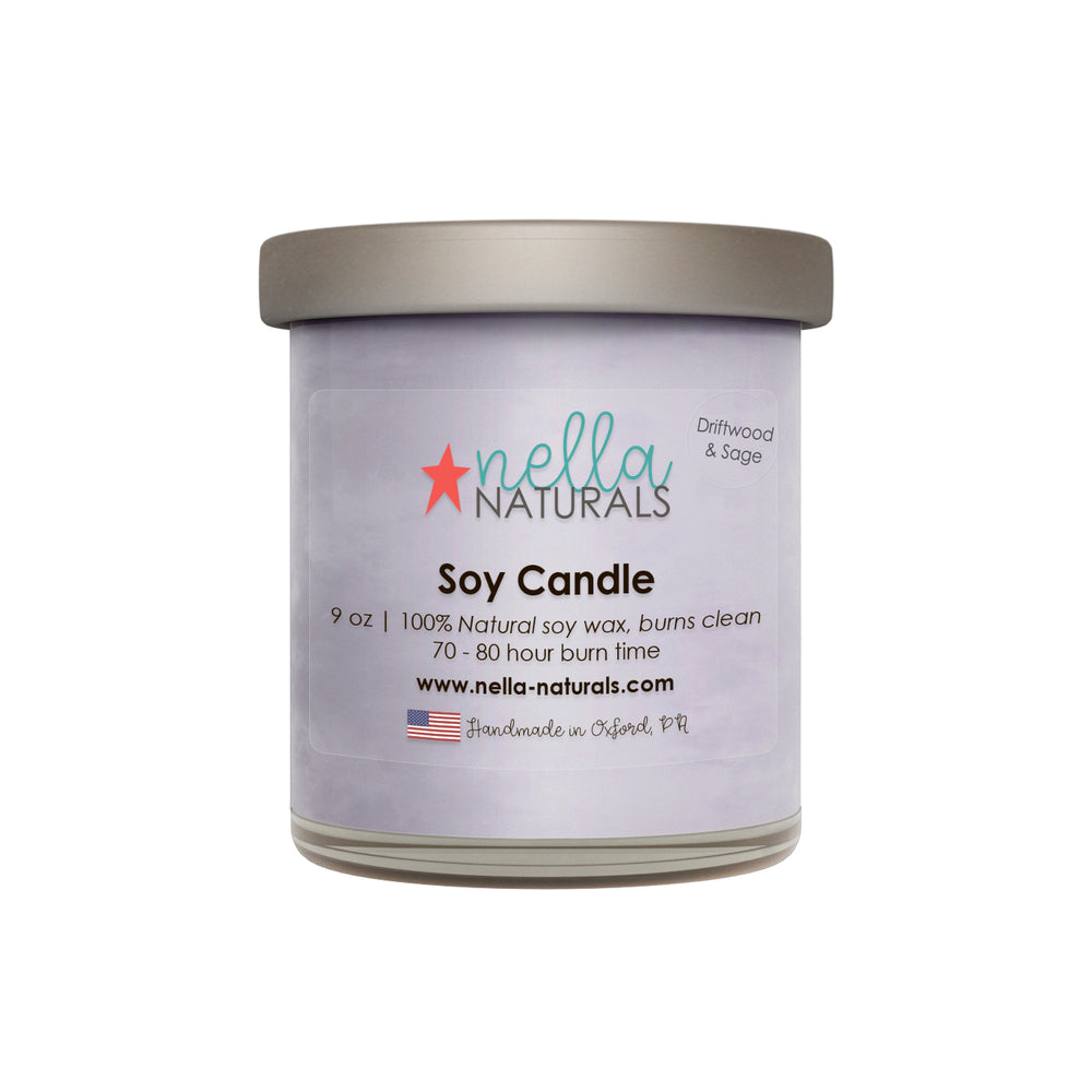 Driftwood & Sage Soy Wax Candle