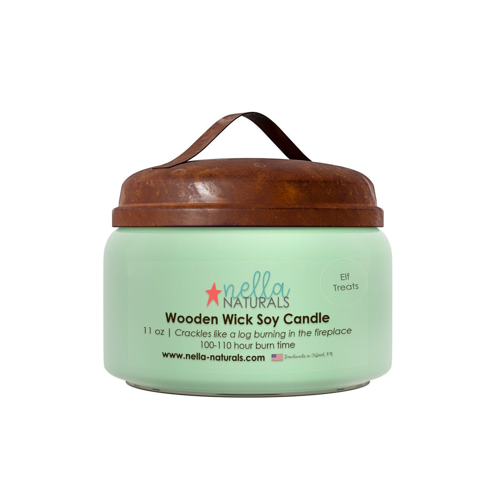 Elf Treats Wooden Wick Candle