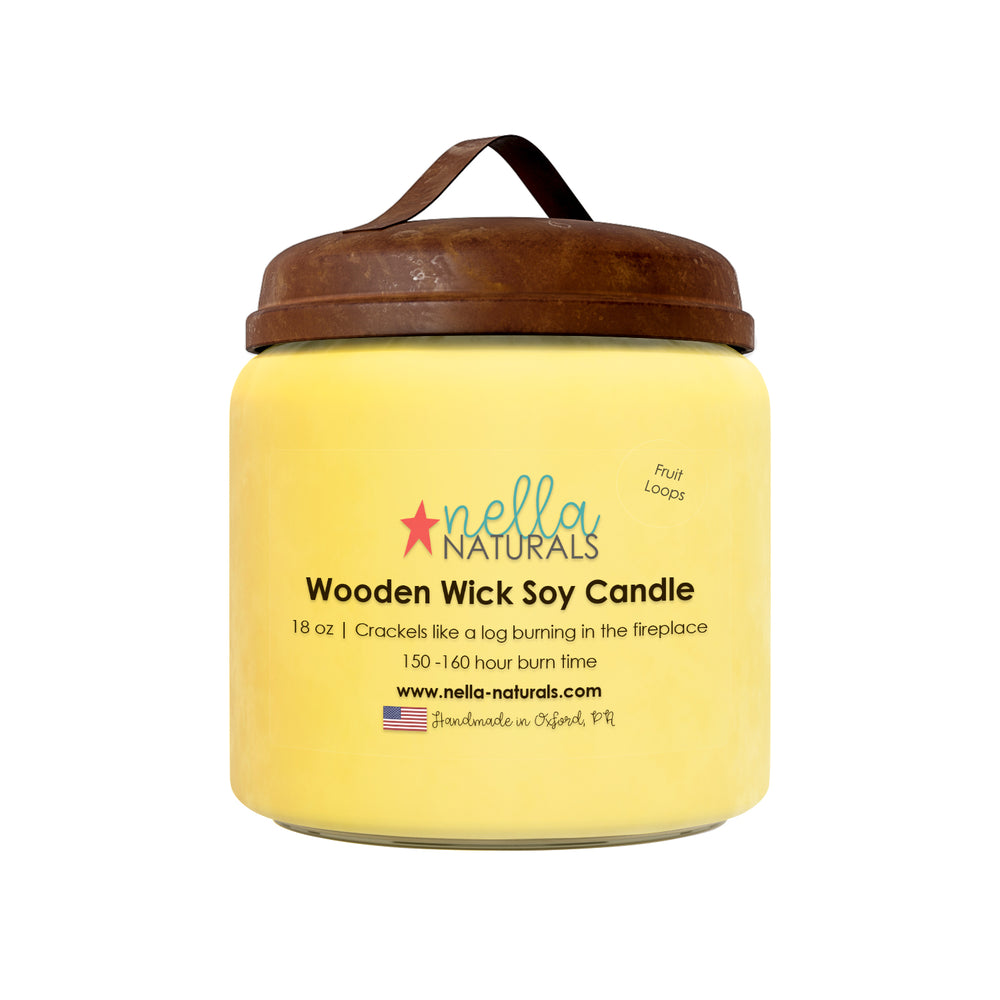 18oz Fruit Loops Wooden Wick Candle