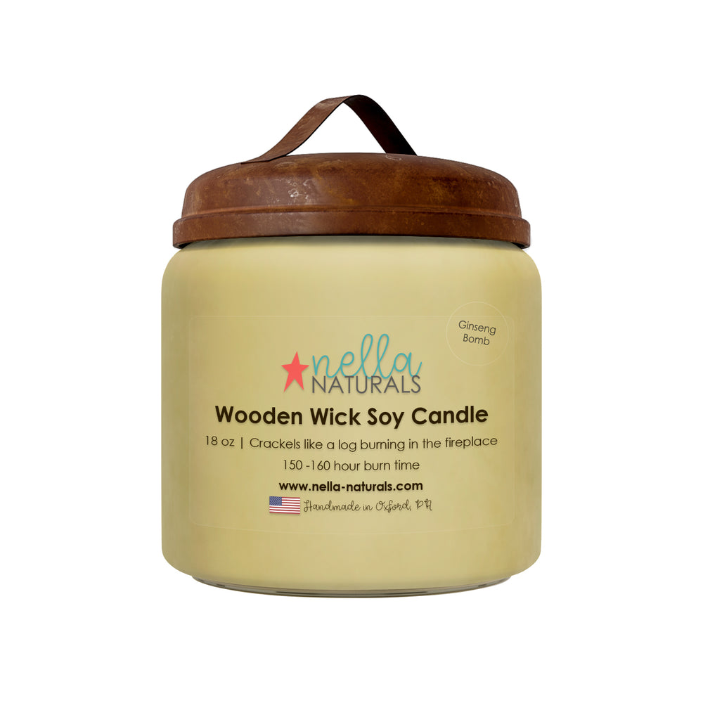 18oz Ginseng Bomb Wooden Wick Candle