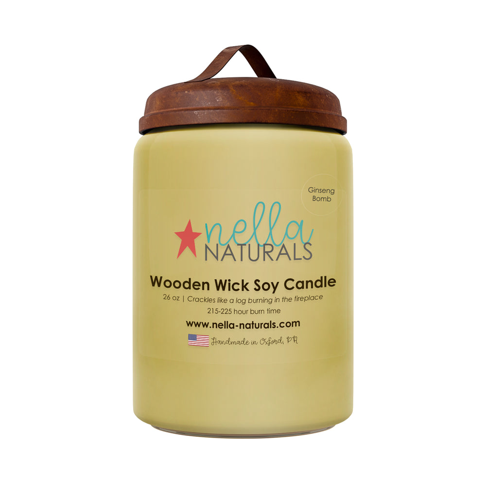 26oz Ginseng Bomb Wooden Wick Candle