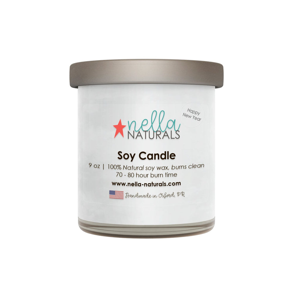 Happy New Year Soy Wax Candle