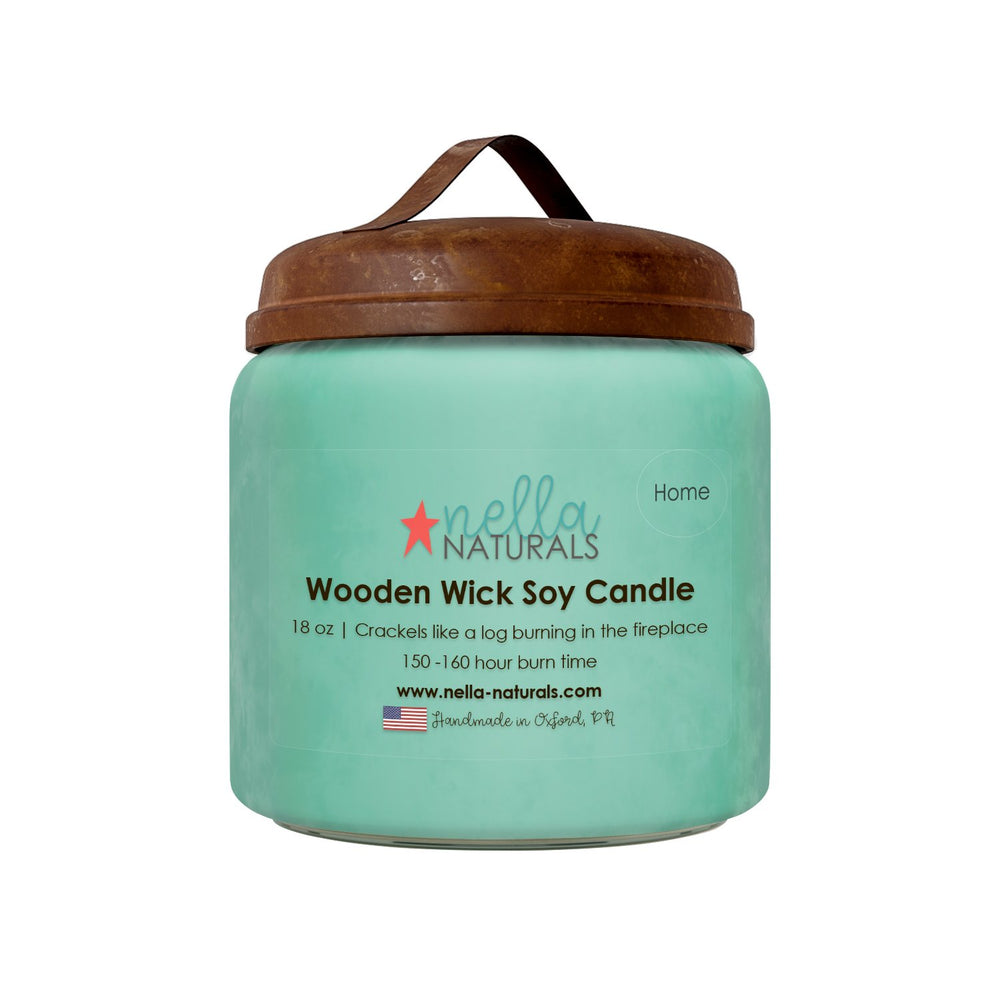 18oz Home Wooden Wick Candle
