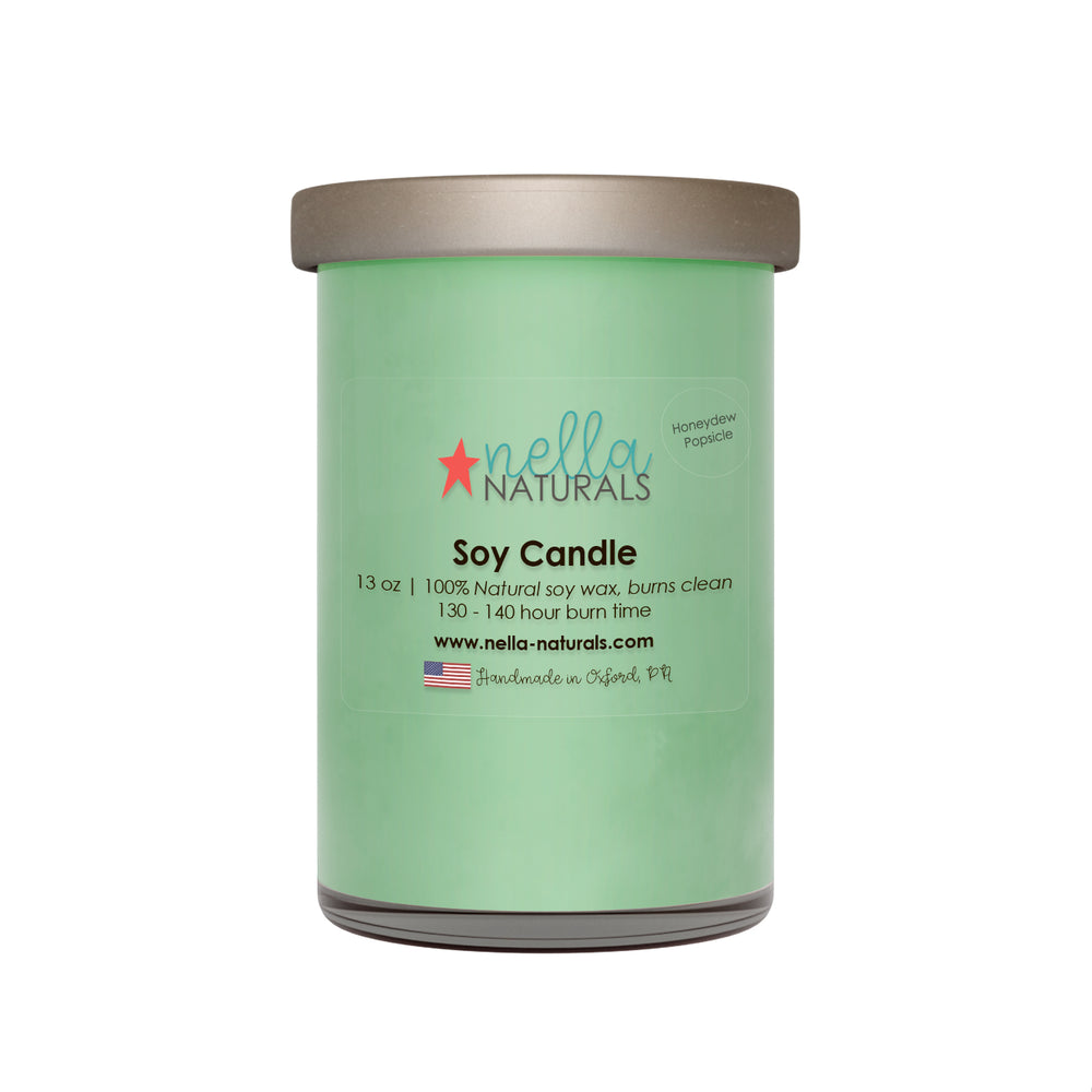 13oz Honeydew Popsicle Soy Wax Candle