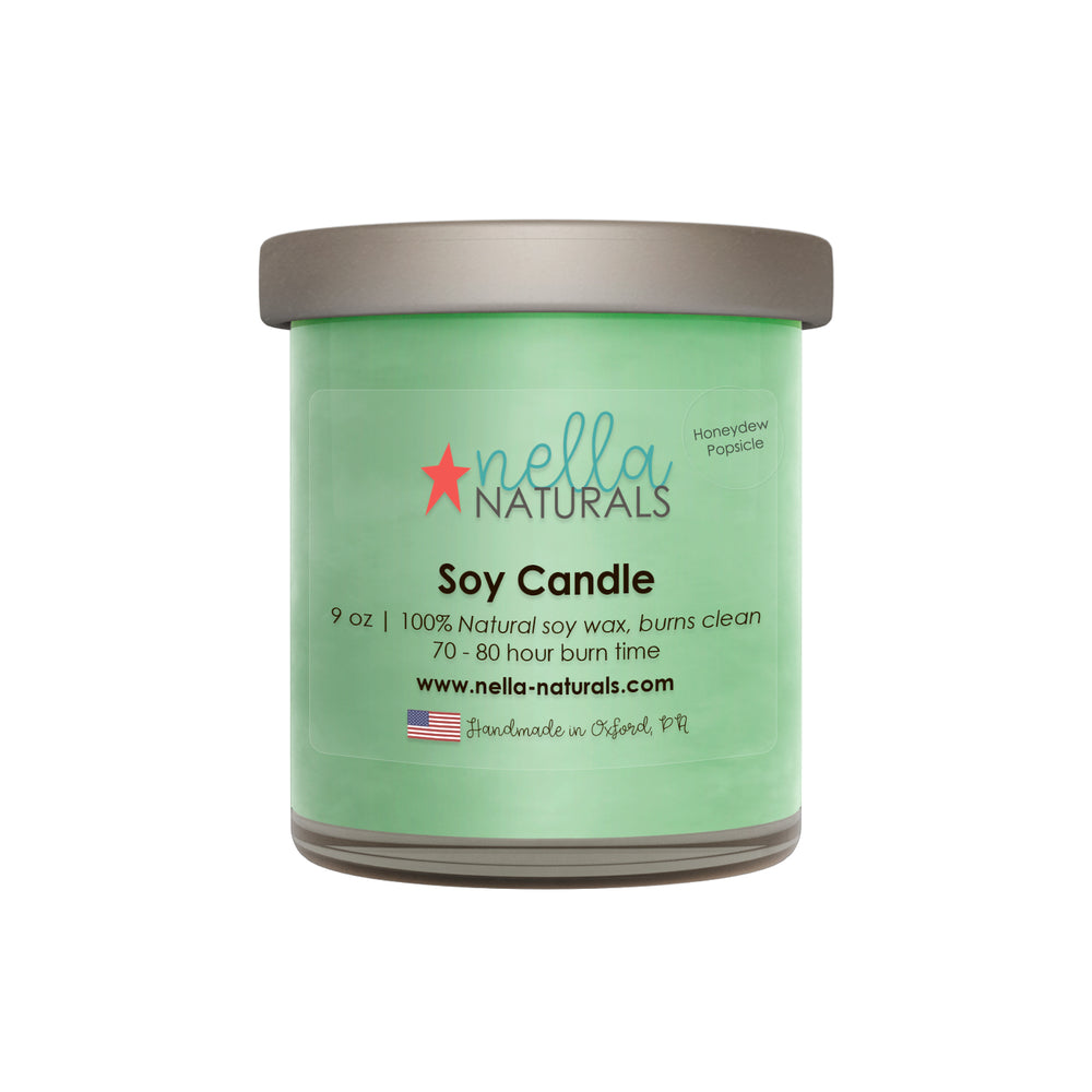 Honeydew Popsicle Soy Wax Candle