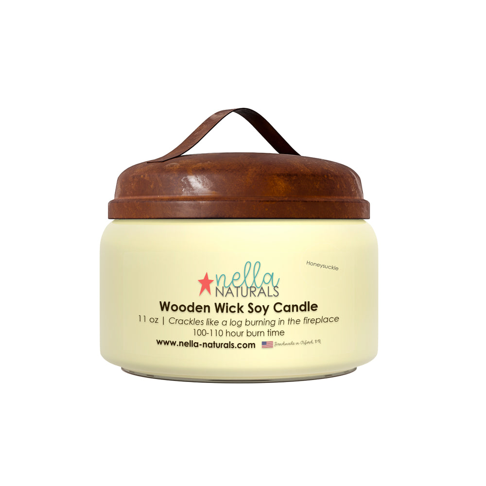 11oz Honeysuckle Wooden Wick Candle