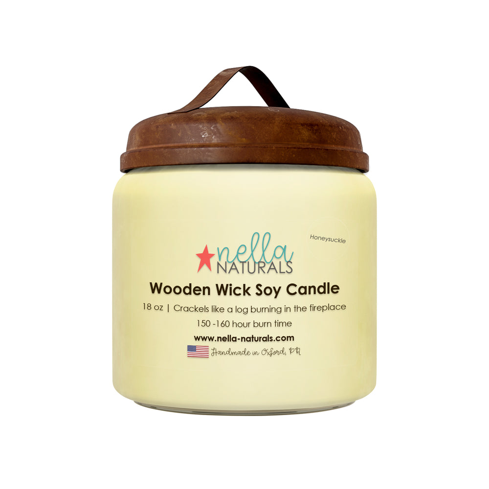 18oz Honeysuckle Wooden Wick Candle