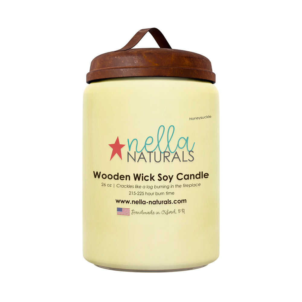 26oz Honeysuckle Wooden Wick Candle