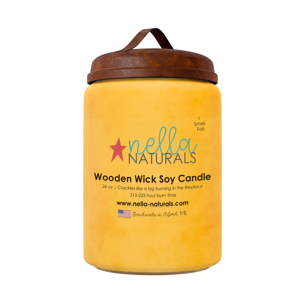 26oz I Smell Fall Wooden Wick Candle