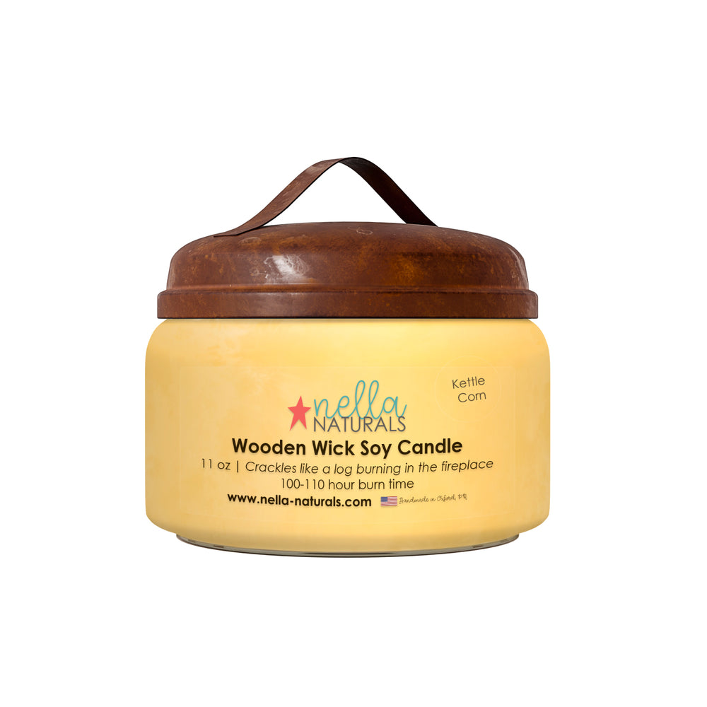 Kettle Corn Wooden Wick Candle