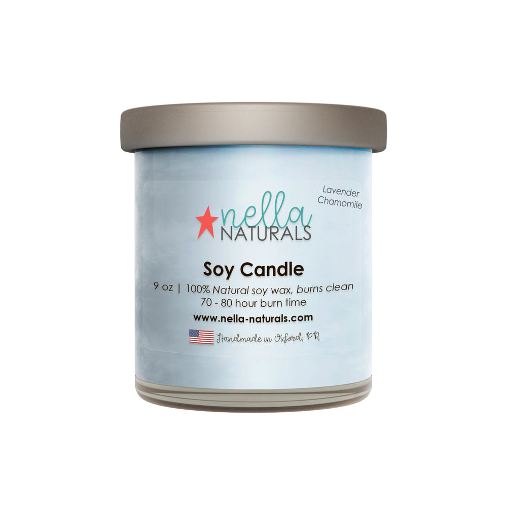 9oz Lavender Chamomile Soy Wax Candle