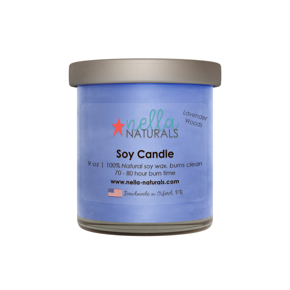 9oz Lavender Woods Soy Wax Candle