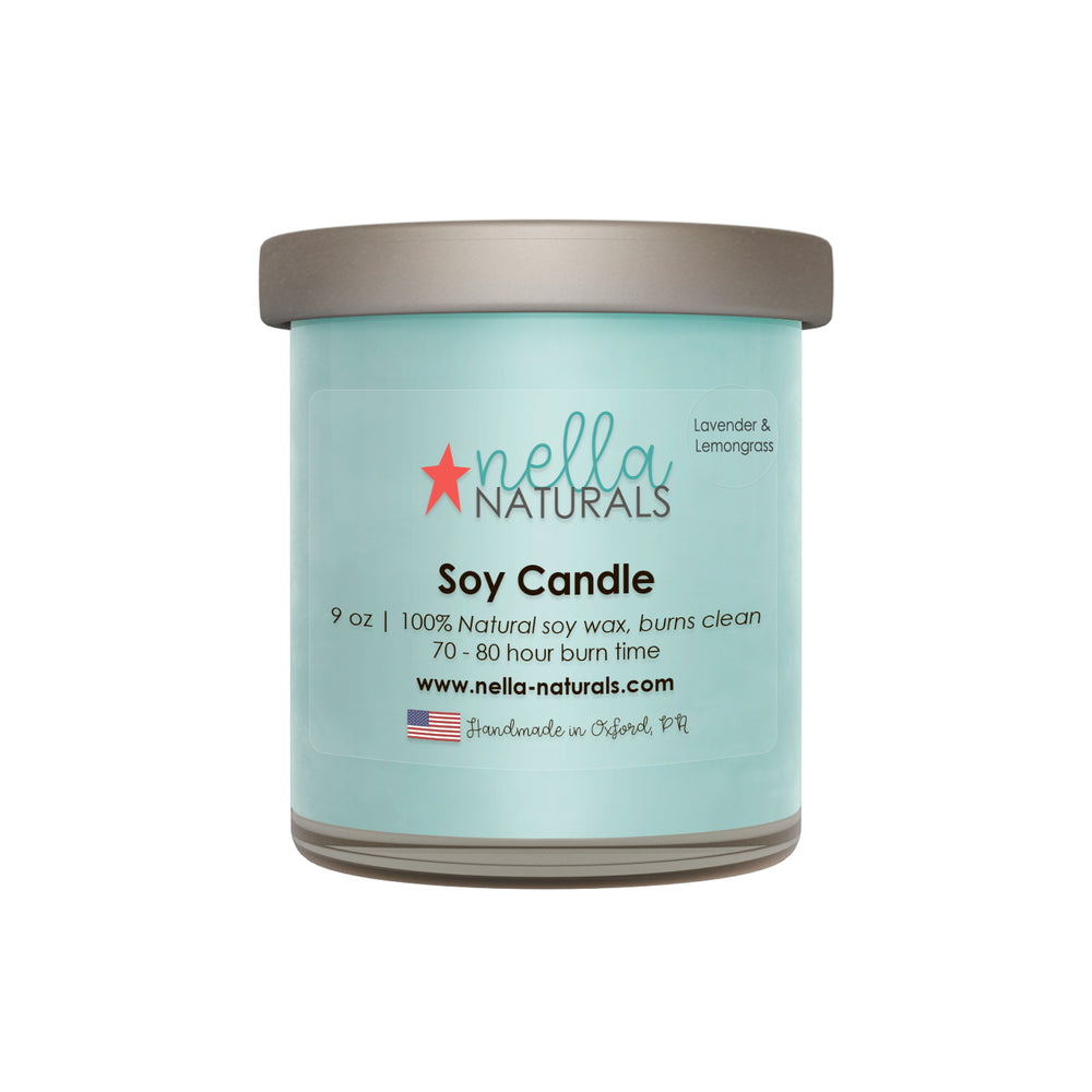 9oz Lavender & Lemongrass Soy Wax Candle