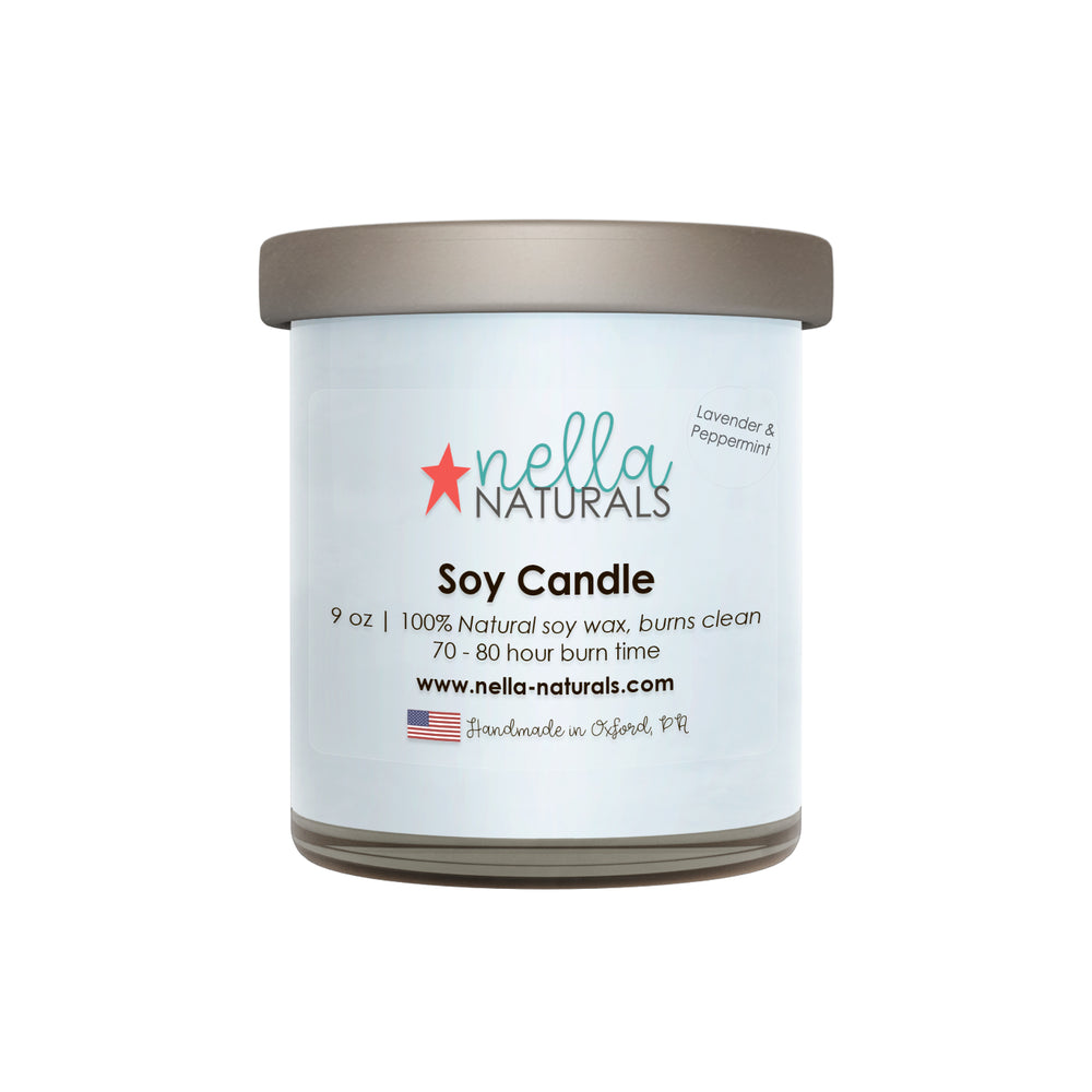 9oz Lavender & Peppermint Soy Wax Candle