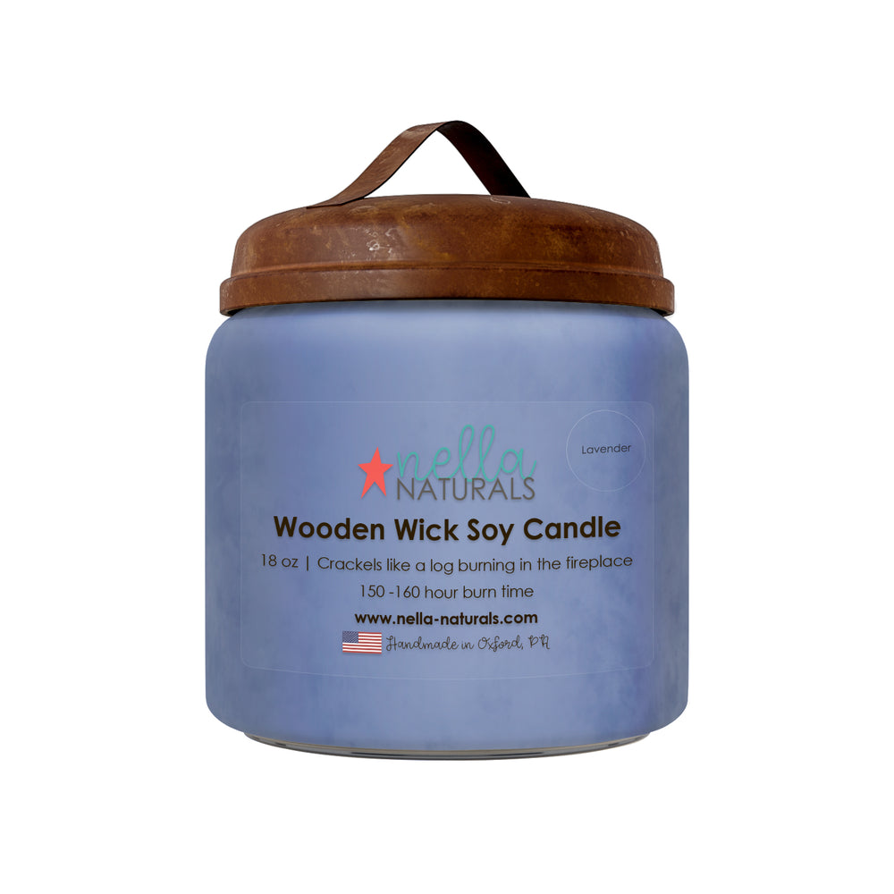 18oz Lavender Wooden Wick Candle