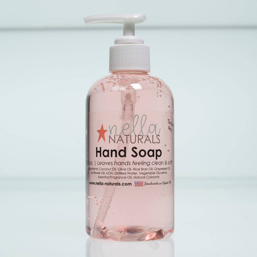 Sweet Pea Liquid Hand Soap white background
