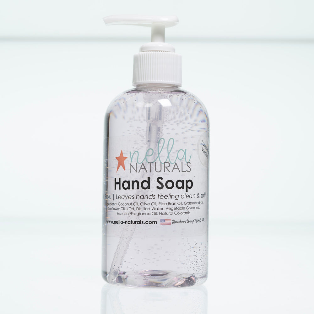 Lavender Vanilla Liquid Hand Soap white background