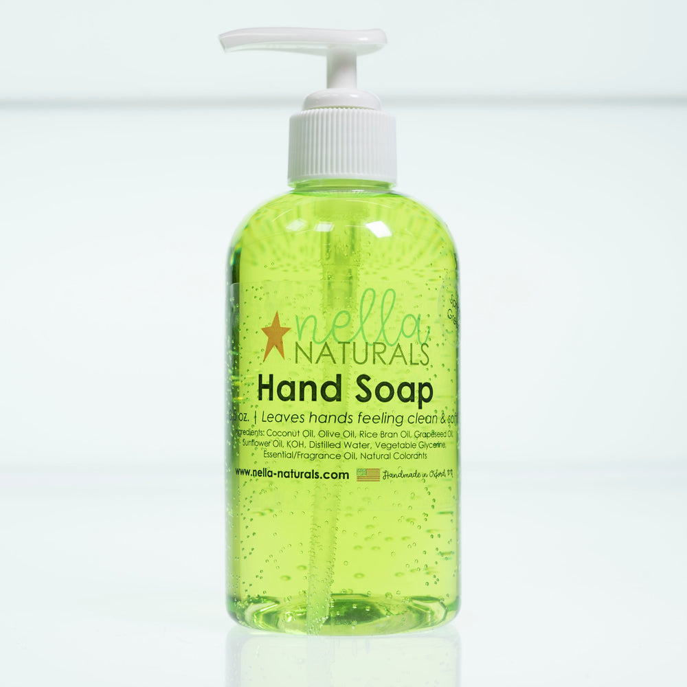 Spring Green Liquid Hand Soap white background