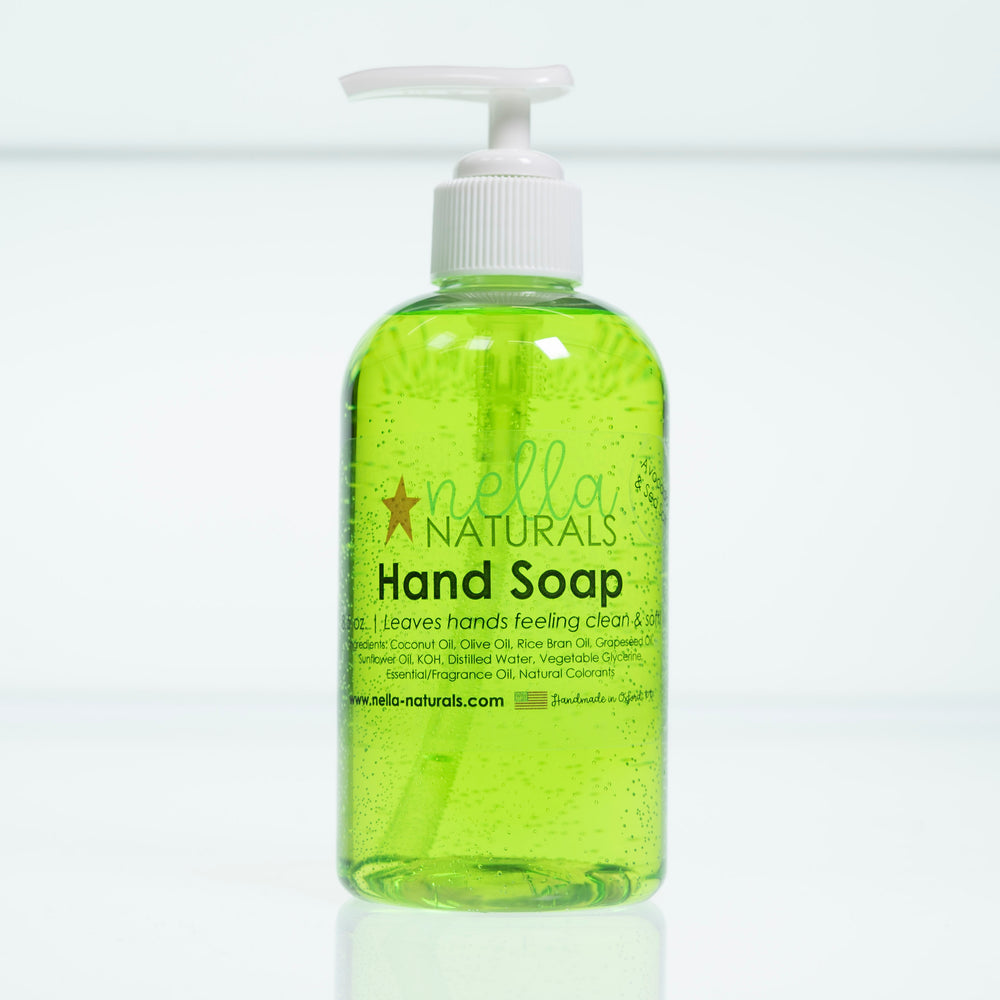 Avocado & Sea Salt Liquid Hand Soap white background