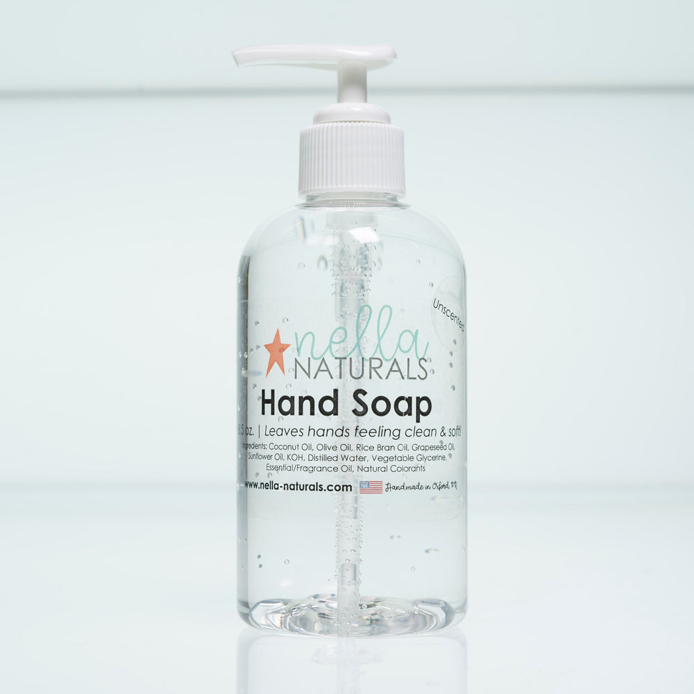 Unscented Liquid Hand Soap white background