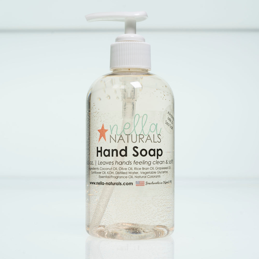 Almond Milk & Sea Salt Liquid Hand Soap white background