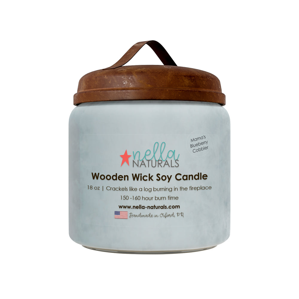 18oz Mama's Blueberry Cobbler Wooden Wick Candle