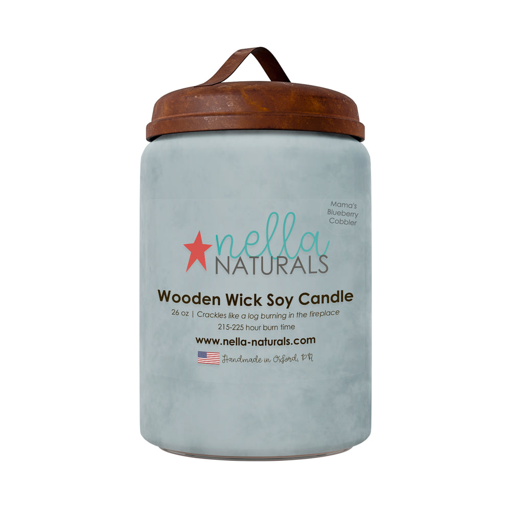 26oz Mama's Blueberry Cobbler Wooden Wick Candle